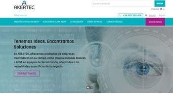 Web corporativa Akertec. Plataforma Wordpress responsive.