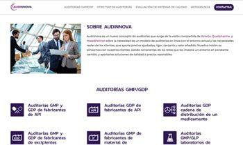 Web corporativa Audinnova. Plataforma Wordpress responsive.