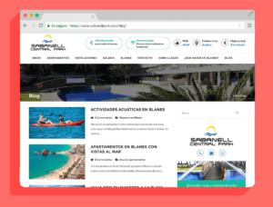 Diseño y desarrollo blog Sabanell Central Park - web de contenidos - Agencia Reinicia