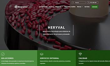 Web corporativa Heryval. Plataforma Wordpress responsive.