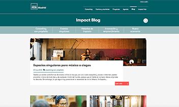 Blog Impact Hub. Plataforma Wordpress responsive.
