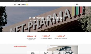Web corporativa Net-Pharma. Plataforma Wordpress responsive.