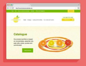 Diseño y desarrollo web corporativa Lemon Concentrate - Agencia Reinicia
