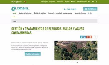 Web Corporativa para Emgrisa. Plataforma Wordpress responsive.