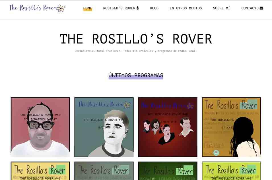 Web corporativa Elena Rosillo. Plataforma Wordpress responsive.