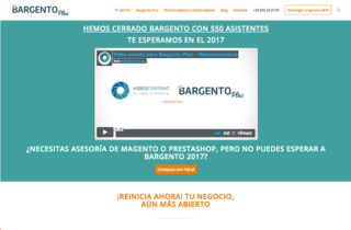 Web corporativa Bargento Plus. Plataforma Wordpress responsive.