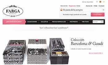 Farga chocolates - Tienda online multiidioma