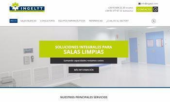 Web Corporativa para Ingelyt. Plataforma Wordpress responsive
