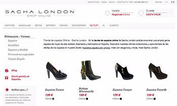 Sacha London - Tienda online multiidioma con Prestashop