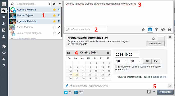 programar publicaciones en hootsuite