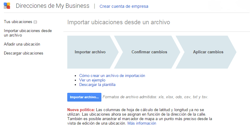 subida masiva en google my business