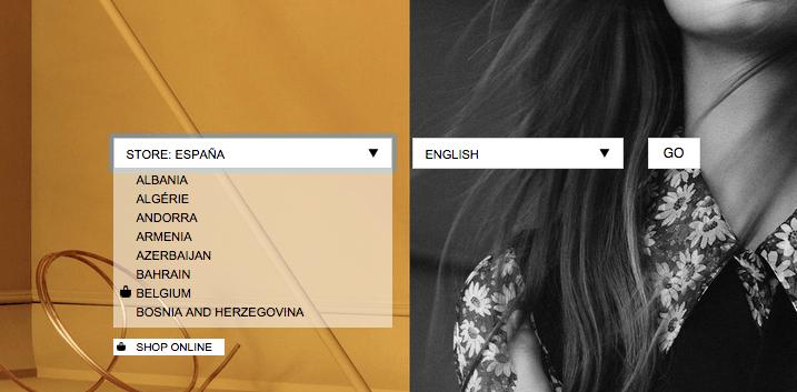 Portada Web Selector Idioma Region