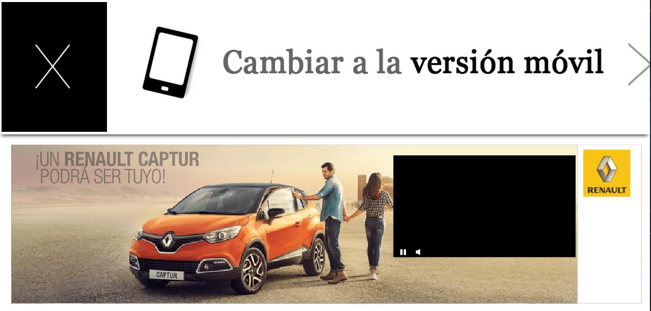 Ejemplo Web Publicidad Excesiva