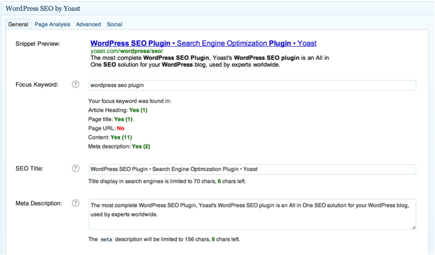 WordPress SEO by Yoast plugin wordpress