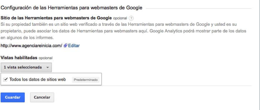 Configuración de las Herramientas para webmasters de Google