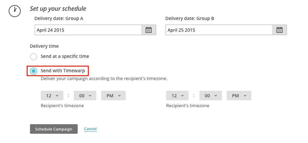 Mailchimp - horario de envio 2