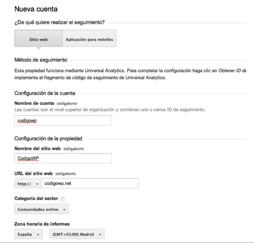 configuracion google analytics