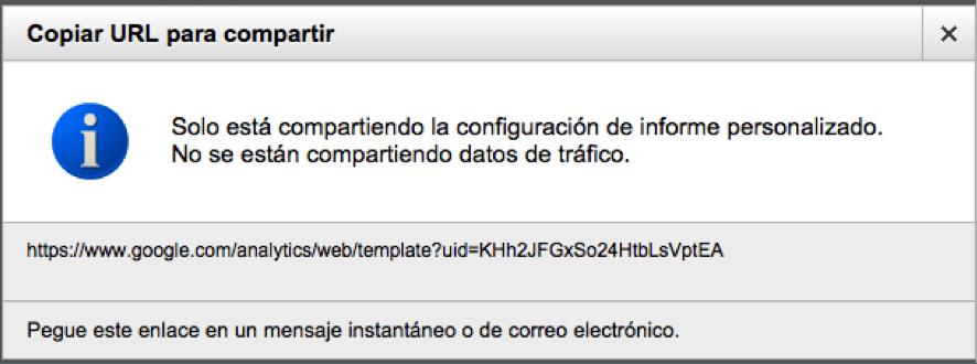 copiar url a compartir - informe personalizado