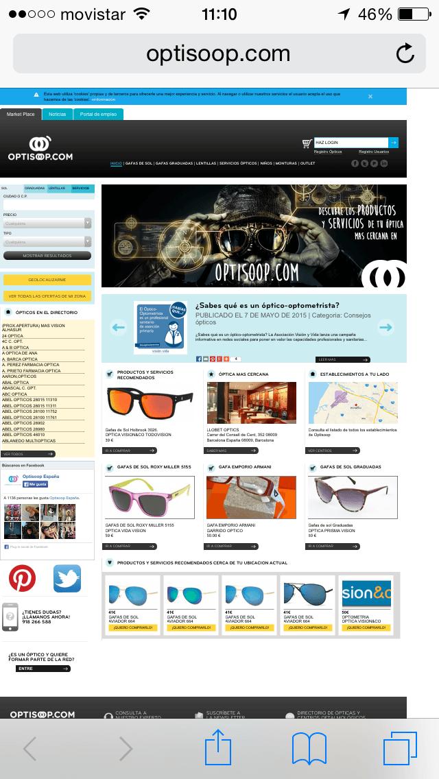 Web Movil - Optisoop