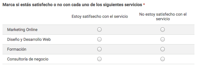tabla encuesta Google Forms