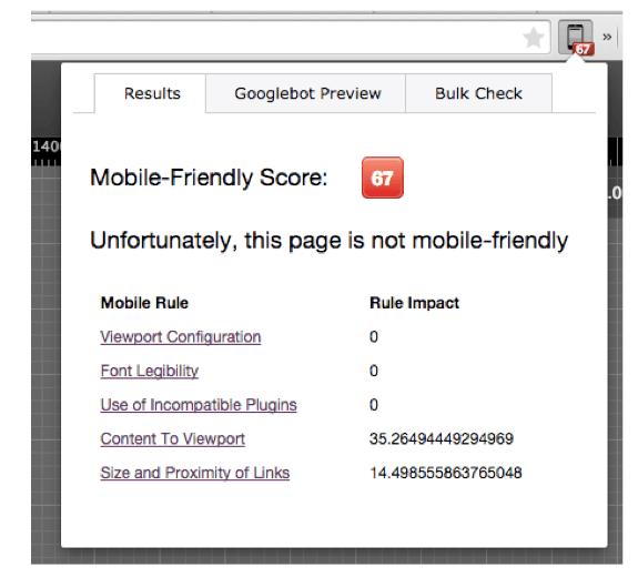 Ejemplo Friendly-Mobile Checker Chrome