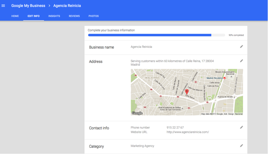 configuracion google my business