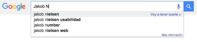 búsquedas sugeridas google