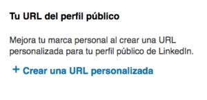 Personalizar url en LinkedIN