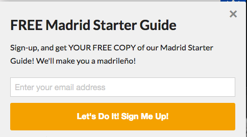 Reclamos Mad4Madrid Newsletter