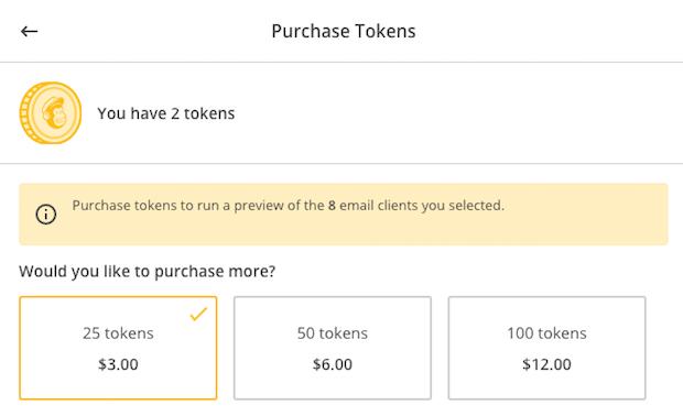 inbox preview token