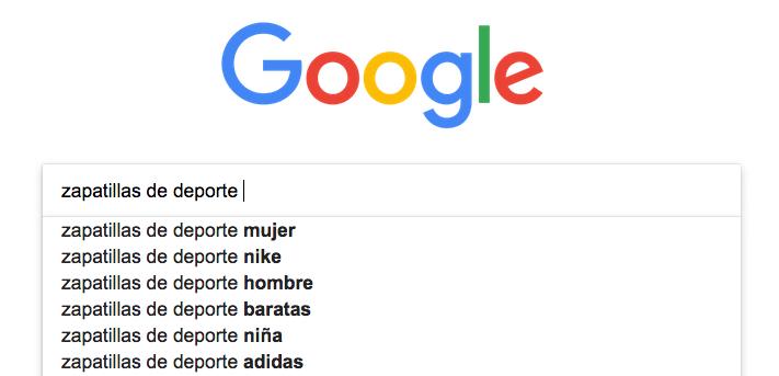 búsqueda de palabras clave - google instant