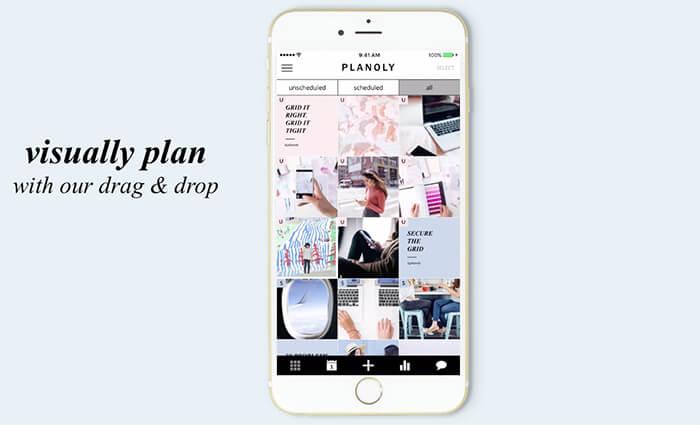Planoly -programar publicaciones en Instagram