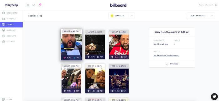 storyheap -programar publicaciones en Instagram