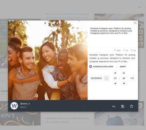 wisel -programar publicaciones en Instagram
