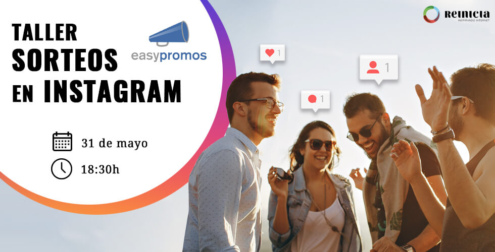 Inscripción Taller Sorteos en Instagram con Easypromos - Agencia Reinicia Marketing Digital