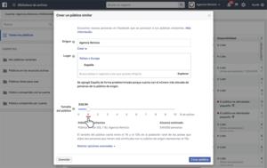 Porcentaje públicos similares - Facebook Ads - Agencia Reinicia