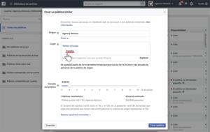 Públicos similares - País - Facebook Ads - Agencia Reinicia