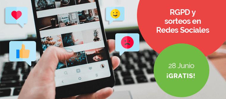 Taller gratuito - RGPD para sorteos en Redes Sociales - Agencia Reinicia Marketing Digital