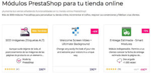 Módulos de PrestaShop para tienda online